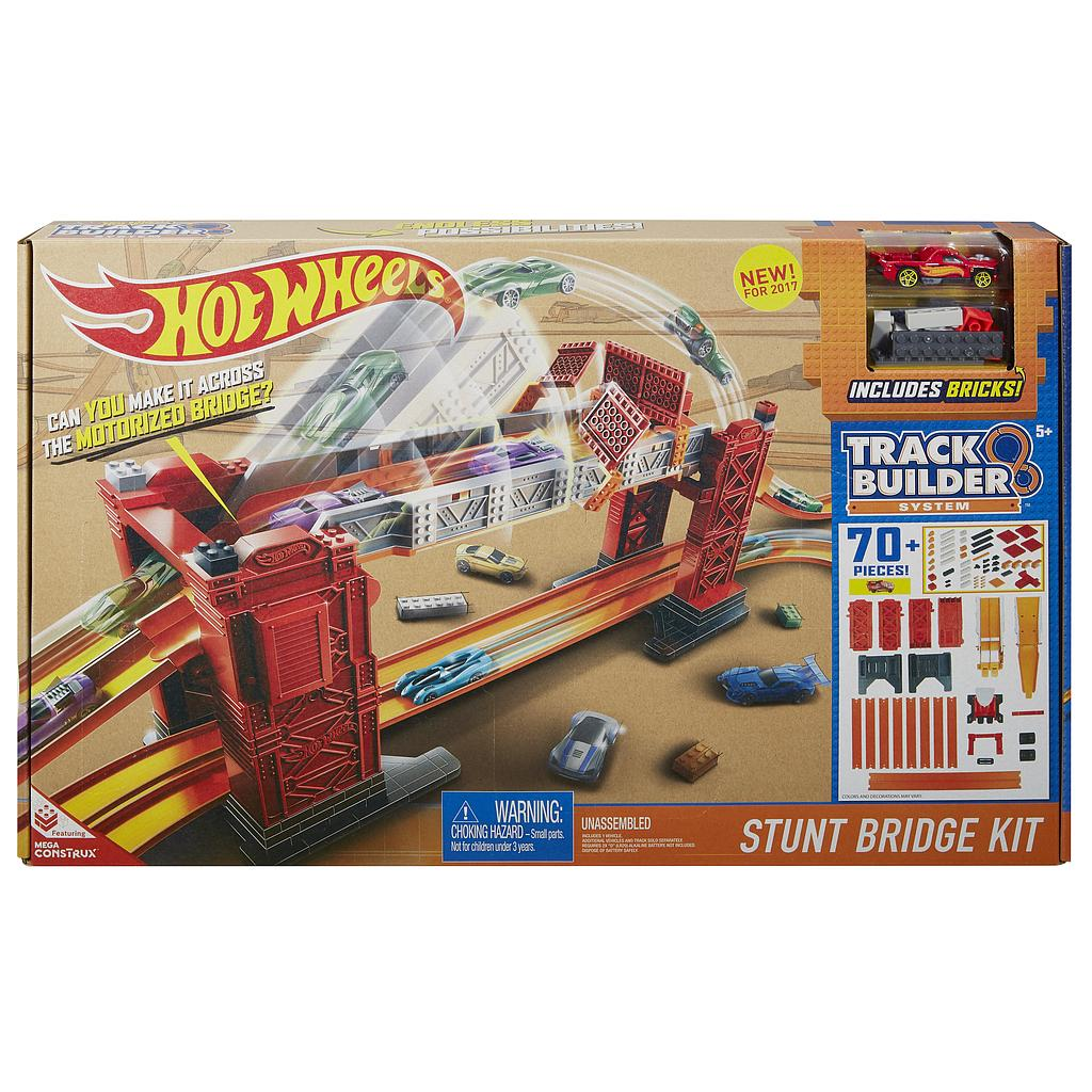 Mattel Hot Wheels DWW97 - Track Builder Bridge Stunt Kit