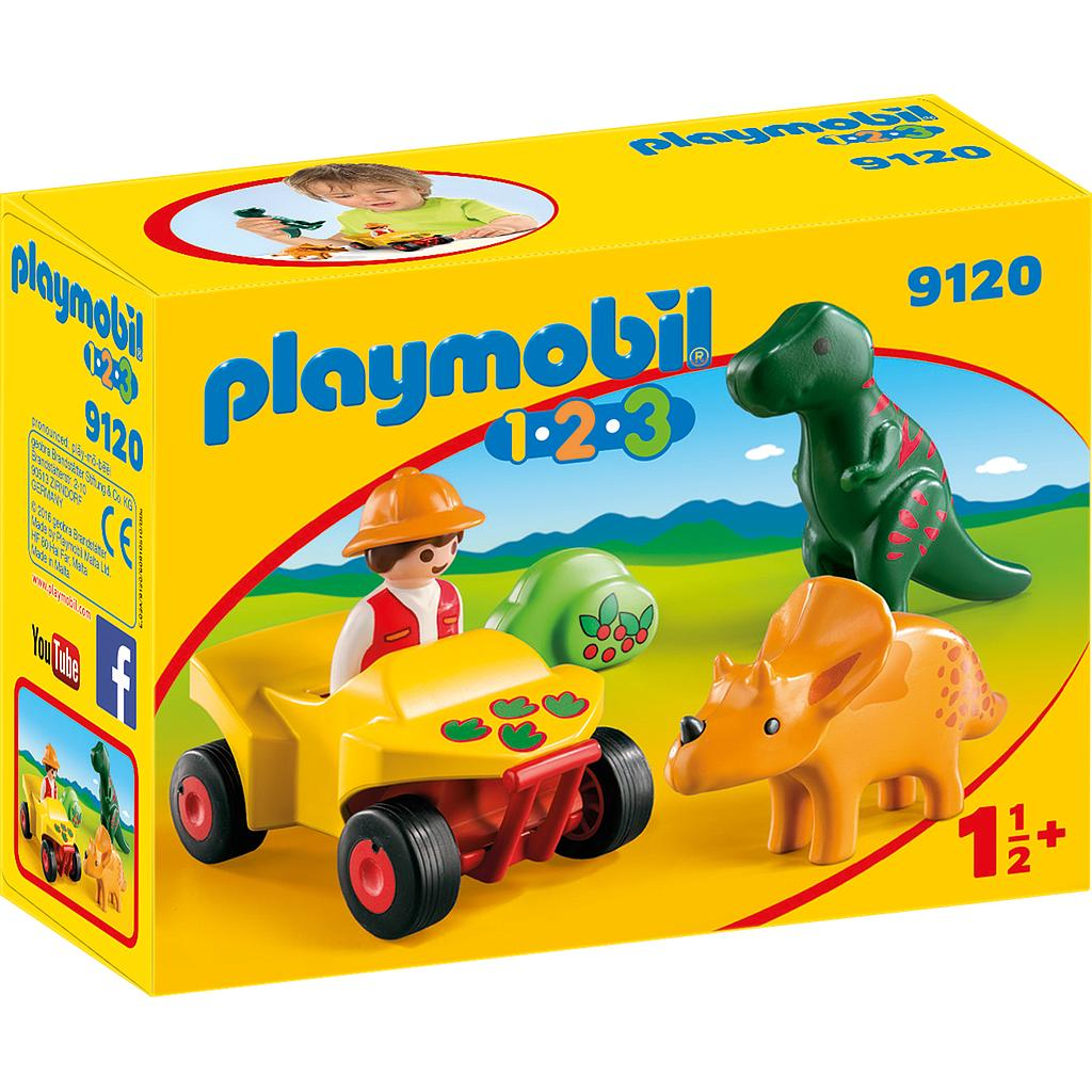 PLAYMOBIL® 9120 - Dinoforscher mit Quad
